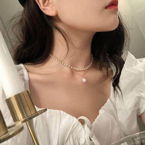 Collier de perle - Or