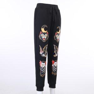 Pantalon noir gothique - Chats