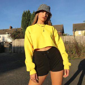Crop top jaune - Fluo