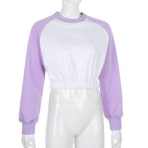 Pull bicolore - Violet