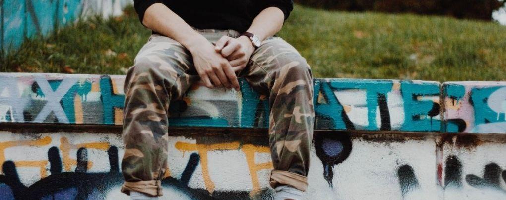 Jean streetwear militaire