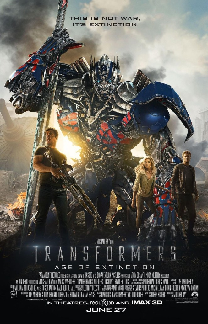 Transformers: Age of Extinction official movie poster