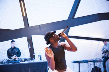 Zebra Katz & DJ Dirtyfinger perform at The D.R.E.A.M. Project at National Sawdust in Brooklyn, NY, on 13 October, 2015.