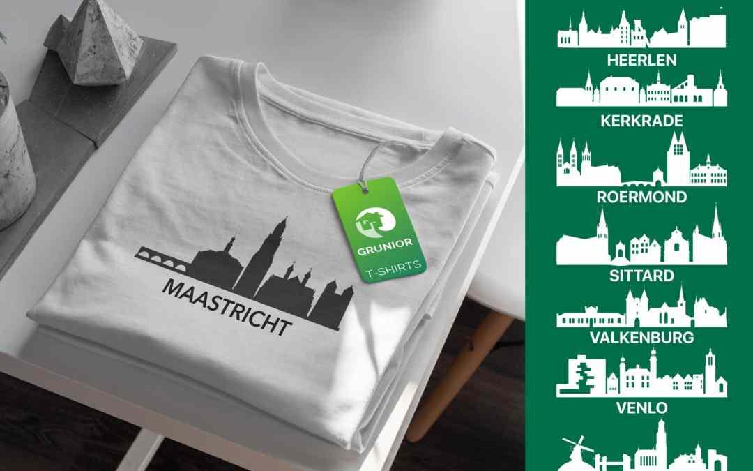 Onze Limburg skyline t-shirts kunnen besteld worden