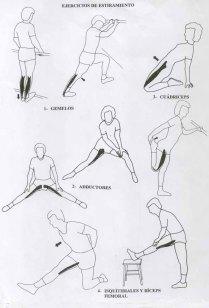 ejercicios de estiramiento 1 eso