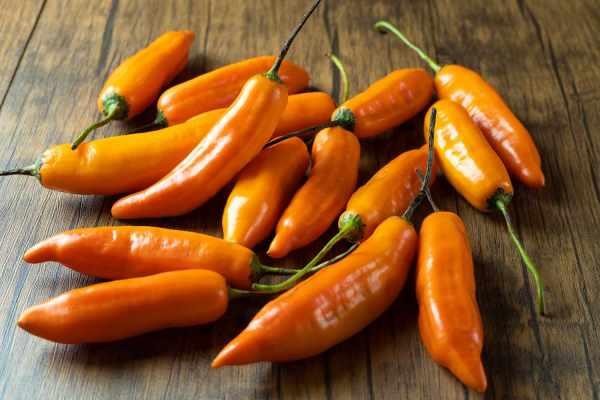 Ají Amarillo. Producto peruano fresco