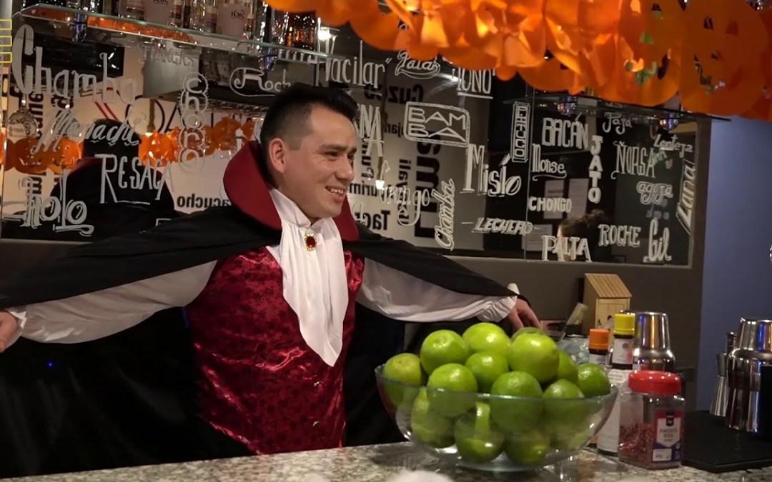 Grupo Jhosef Arias disfrutando las fiestas de Halloween.
