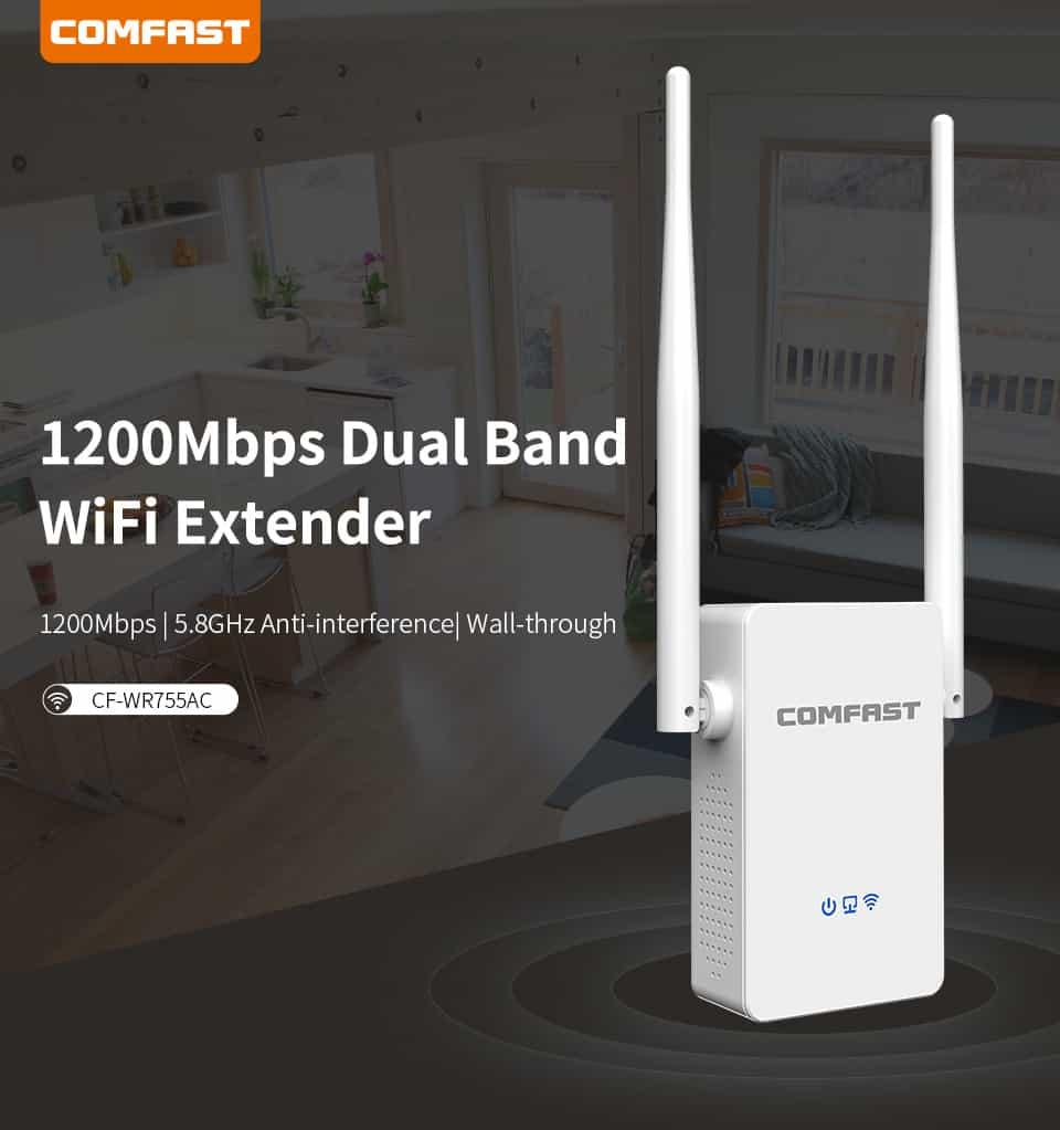 Comfast CF-WR755AC 1200mbps dual band