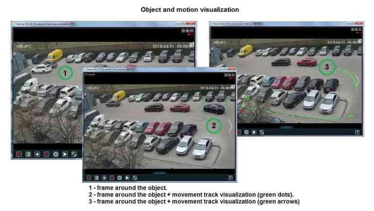 [Para proyectos a gran escala  ] Los objetos y la visualización de movimiento atraerán la atención de los guardias de seguridad cuando sea necesario