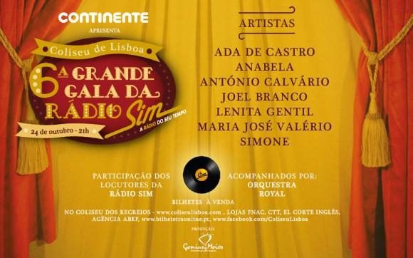 cartaz_6ªGrande Gala Rádio SIM