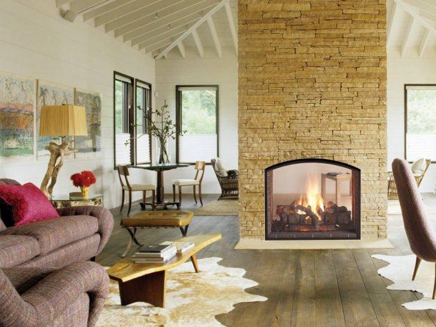 16 lujosos diseños de chimeneas que vale la pena ver