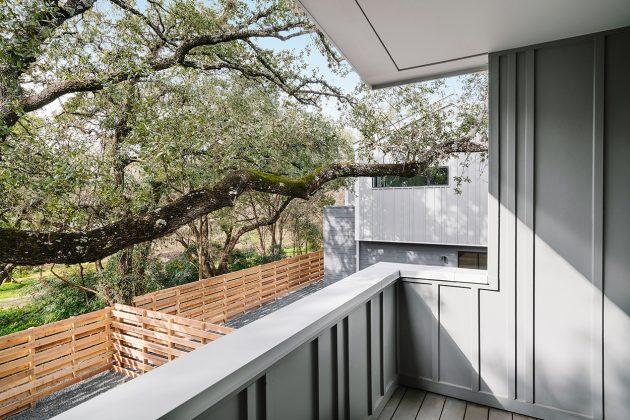 Proyecto Clawson por Mark Odom Studio en Austin, Texas