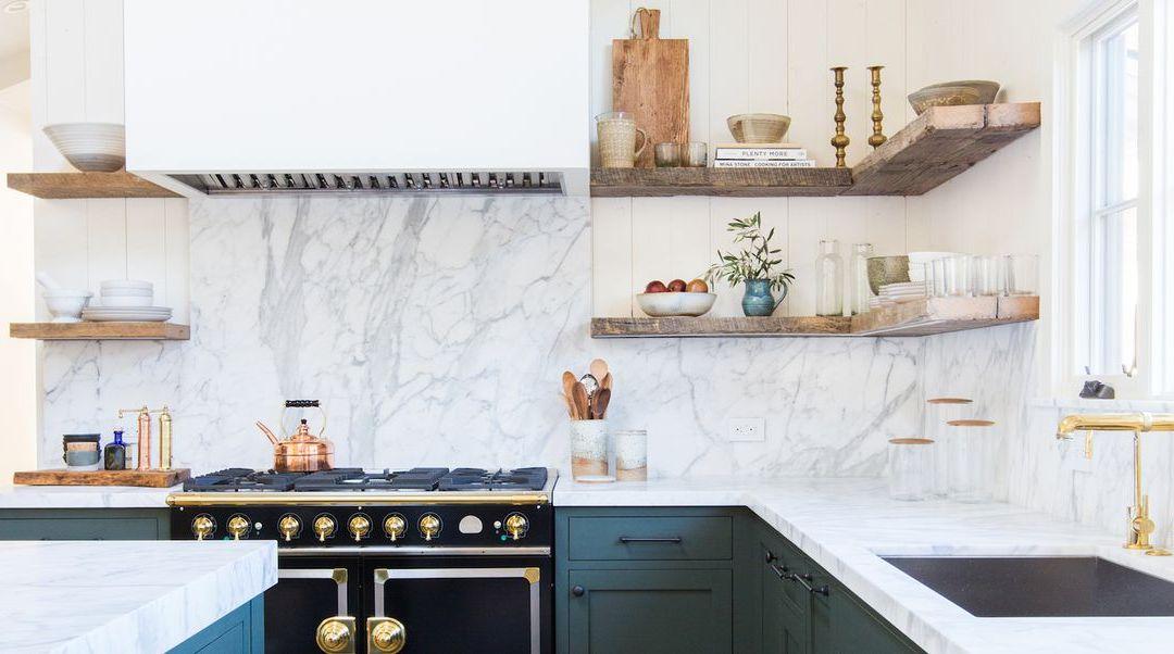 Estanterías abiertas de cocina Ideas que dejarán una impresión única en cualquier espacio