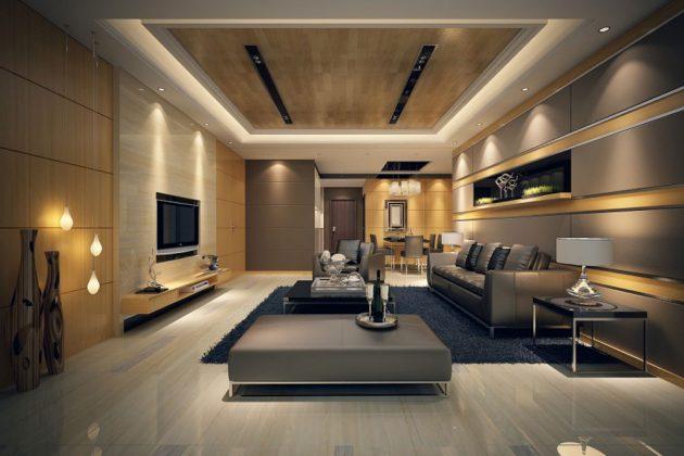 16 atractivos diseños de sala de estar para todos los gustos