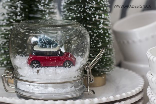 15 globos de nieve caprichosos de bricolaje para la temporada