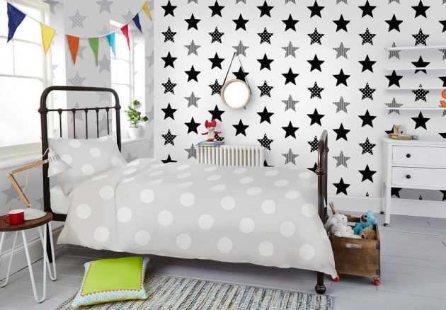 10 fondos de pantalla estampados para una habitación infantil