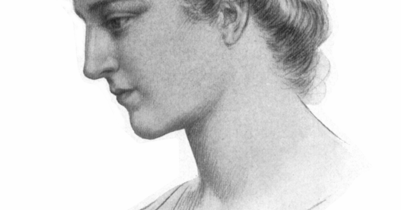 """Drawn by Jules Maurice Gaspard (1862–1919) - Elbert Hubbard, """"Hypatia"""", in Little Journeys to the Homes of Great Teachers, v.23 #4, East Aurora, New York : The Roycrofters, 1908 (375 p. 2 v. ports. 21 cm)"""