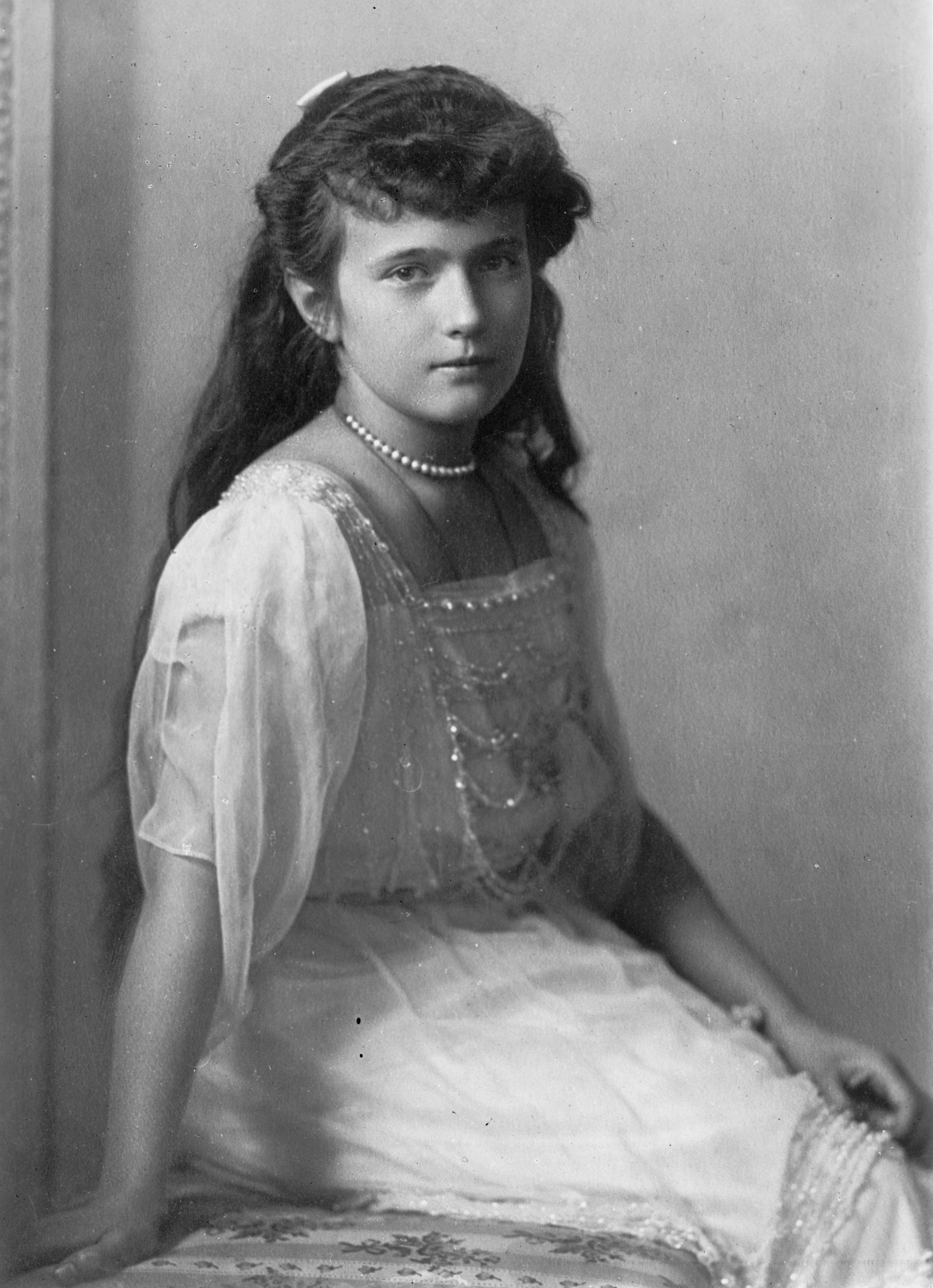 Grand Duchess Anastasia Nikolaevna of Russia Date before 1918 Source George Grantham Bain Collection, Library of Congress, Reproduction number LC-DIG-ggbain-38336 US-LibraryOfCongress-BookLogo.svg This image is available from the United States Library of Congress's Prints and Photographs division under the digital ID ggbain.38336. This tag does not indicate the copyright status of the attached work. A normal copyright tag is still required. See Commons:Licensing for more information. العربية | беларуская (тарашкевіца) | čeština | Deutsch | English | español | فارسی | suomi | français | עברית | magyar | italiano | 日本語 | lietuvių | македонски | മലയാളം | Nederlands | polski | português | português do Brasil | русский | sicilianu | slovenčina | slovenščina | Türkçe | українська | 中文 | 中文(简体) | 中文(繁體) | +/− Author Boissonnas et Eggler, St. Petersburg, Nevsky 24. – Bain News Service, publisher.
