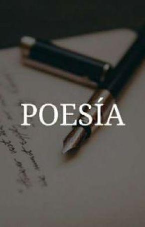 Una pluma abierta sobre una hoja con la palabra poesía sobre impresa en letras mayúsculas blancas.