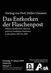 Plakat Claussen 27.1.2009