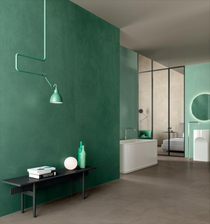 bathroom with resin effect porcelain