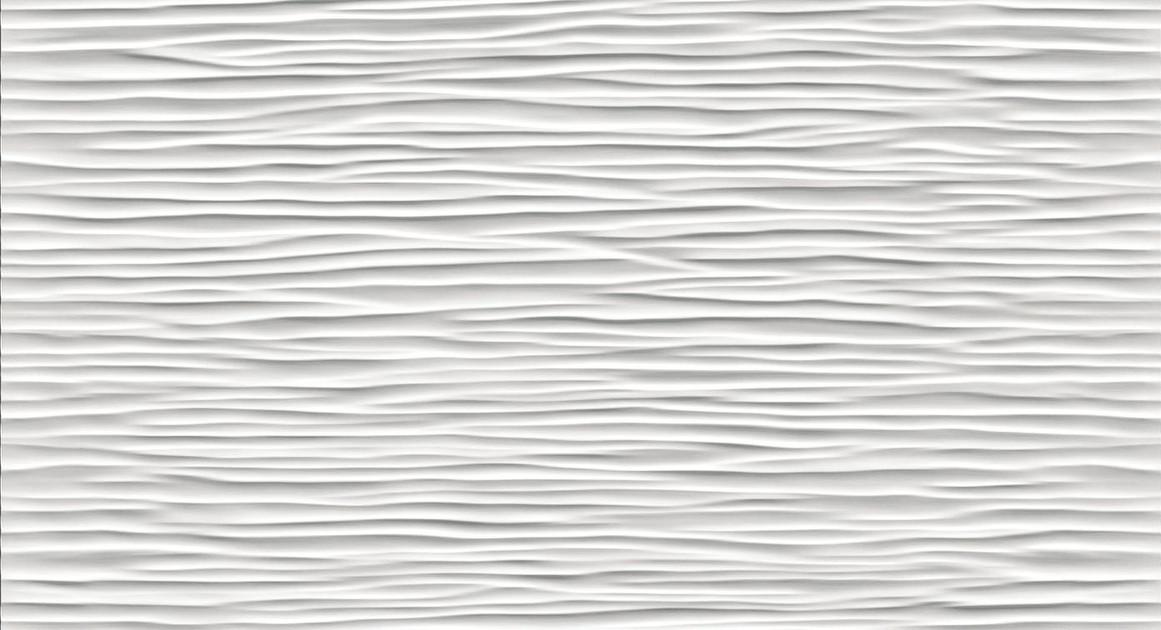3d wall design 3d wave white matt 56
