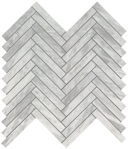 marvel bardiglio grey herringbone wall