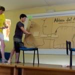 abbiamo anche preparato una lezione (tema a scelta) che dovevamo esporre a tutti: Figata ci ha portati all'interno dell'Abisso del Merlo per spiegarci le tecniche d'armo e il fattore di caduta