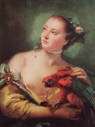 ragazza con pappagallo tiepolo