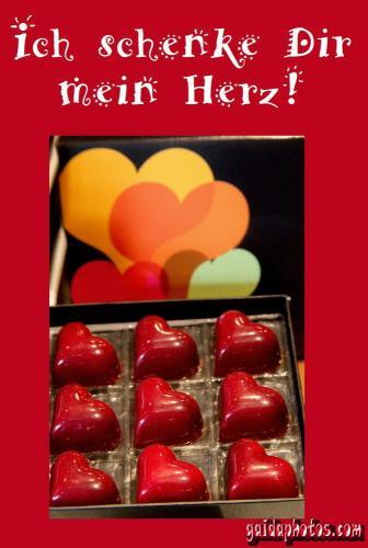 Liebeserklärung zum Valentinstag per SMS mit kostenlosen Ecards