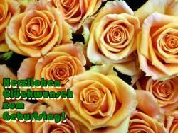 Grußkarte zum Geburtstag selbst basteln, Rosen