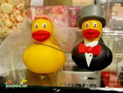 Liebeserklärung Ecard Hochzeitspaar, Ente
