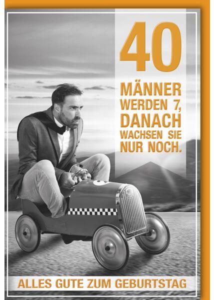 40 Geburtstag Karte Gluckwunschkarten Zum 40 Geburtstag