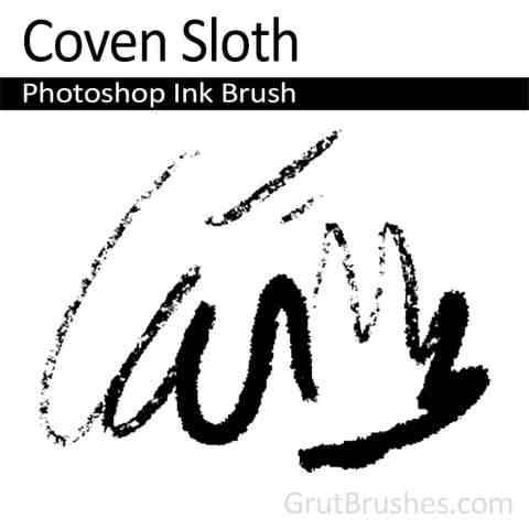 Photoshop Ink Brush for digital artists 'Coven Sloth'