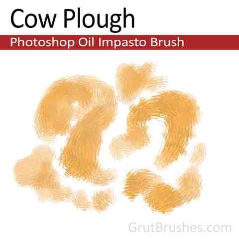 'Cow Plough' Photoshop Impasto Oil Brush for digital artists