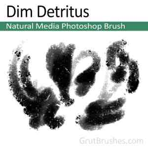 'Dim Detritus' Oil Pastel Photoshop Brush for digital artists