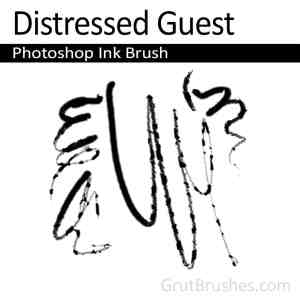 Photoshop Ink Brush toolset 'Distressed Guest'