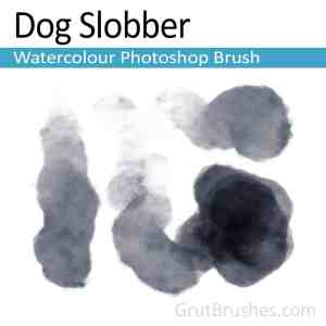 'Dog Slobber' Photoshop watercolor brush for digital painting