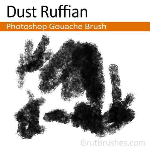 Photoshop Gouache Brush 'Dust Ruffian'