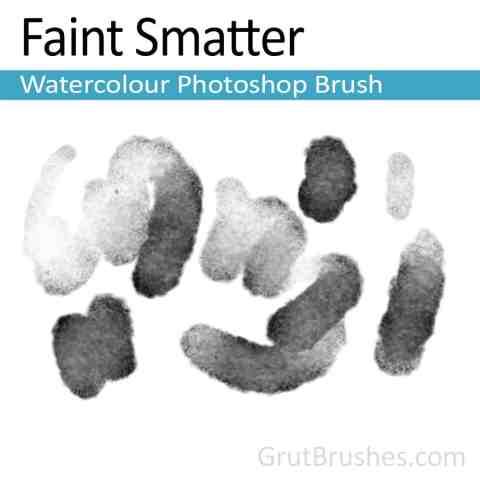 'Faint Smatter' Photoshop Watercolor Brush for digital artists