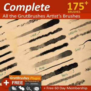 All GrutBrushes professional Artist's brushes