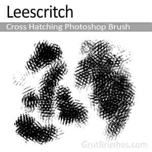 'Hatch Leescritch' Photoshop Cross Hatching Brush for digital artists