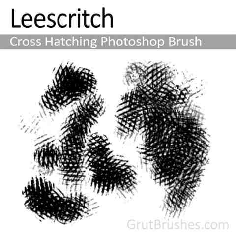 'Hatch Leescritch' Photoshop Cross Hatching Brush for digital artists