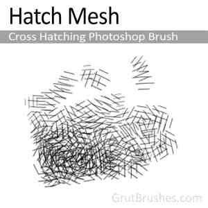 Photoshop Cross Hatching Brush 'Hatch Mesh'
