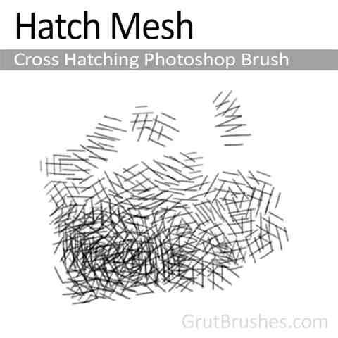 Photoshop Cross Hatching Brush 'Hatch Mesh'
