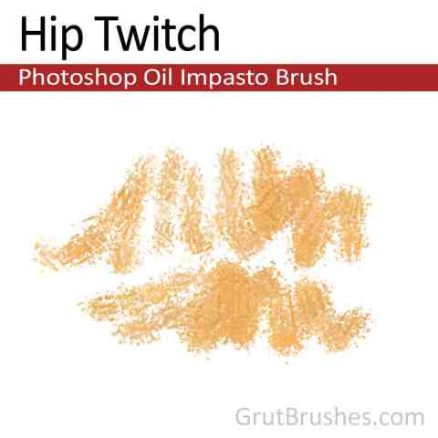 Photoshop Oil Impasto Brush for digital artists 'Hip Twitch'