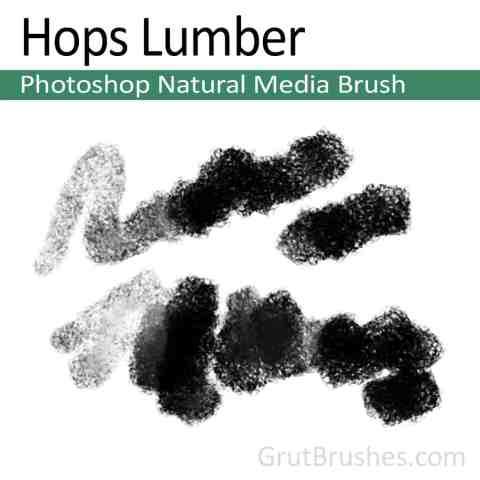 Photoshop Natural Media Brush for digital artists 'Hops Lumber'