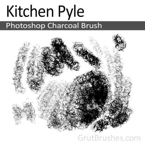 Photoshop Charcoal Brush toolset 'Kitchen Pyle'