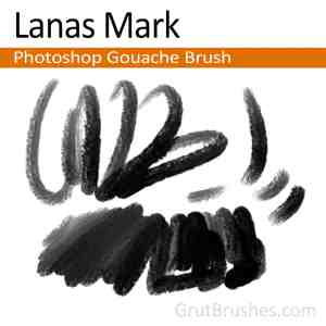 'Lana's Mark' Photoshop Gouache Brush