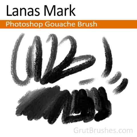 Photoshop Gouache Brush 'Lanas Mark'